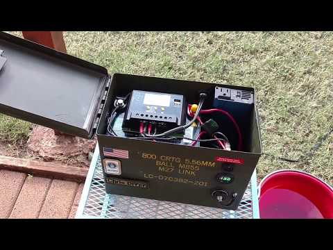 Ammo can 12v micro solar generator (new battery, improvements, tweaks)