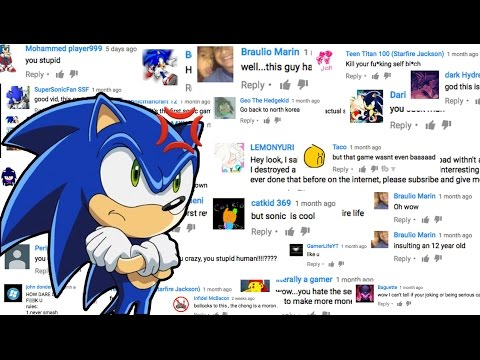 HATE COMMENTS - SONIC FANS