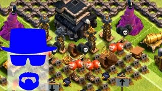 A VILA MEDIEVAL MAIS TROLL DO CLASH OF CLANS