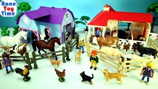 Farm Barn Animals Toys For Kids - Fun Videos Compilation