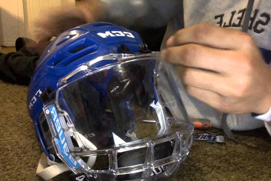 4b933b008fc HOW TO put a Bauer concept 3 fishbowl on a CCM resistance 300 Helmet ...