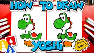 How To Draw Yoṡhi From Mario