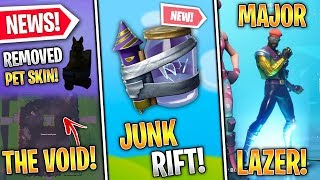 Fortnite X Major Lazer Skins, Pet Removed, 'Void' POI, Junk Rift Leaked, Bao Bros! - Fortnite News