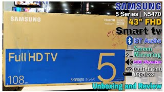 Samsung 43 quot N5470 Smart Full HD TV 5 Series Unboxing and Review in Hindi