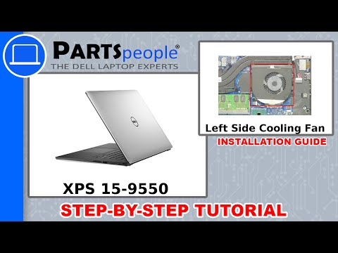 Dell XPS 15-9550 (P56F001) Left-Side Cooling Fan How-To Video Tutorial