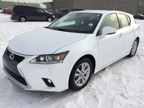 new white 2015 lexus ct 200h fwd 4dr hybrid standard equipment review in edmonton alberta. Black Bedroom Furniture Sets. Home Design Ideas