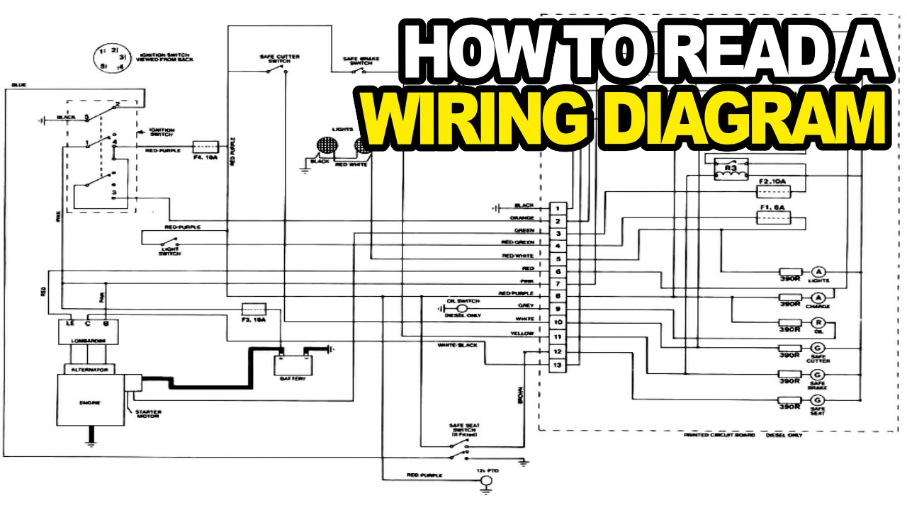 maxresdefault how to read an electrical wiring diagram youtube electrical wiring diagrams at bayanpartner.co