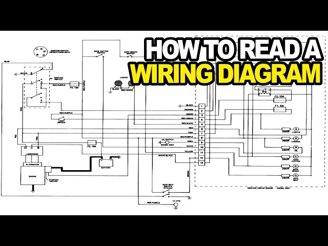 how to: read an electrical wiring diagram - youtube  youtube