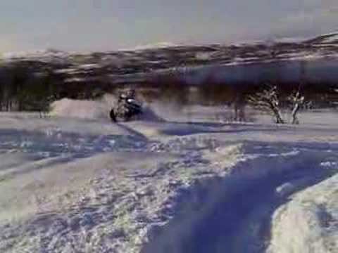 Polaris 550 Touring in deep snow!!
