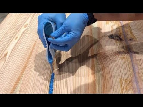 Reclaimed Epoxy River Glow Table // How To Make - Woodworking