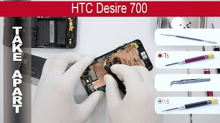 How to disassemble 📱 HTC Desire 700, Take Apart, Tutorial(How to disassemble HTC Desire 700 by himself. Disassembly (take apart) and repair smartphone HTC Desire 700 at home with a minimal set of tools., 2015-04-11T02:13:42.000Z)
