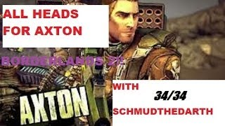 All Commando Heads For Axton Borderlands 2 34/34