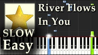 Yiruma - River Flows in You - Piano Tutorial Easy SLOW Synthesia - How To Play