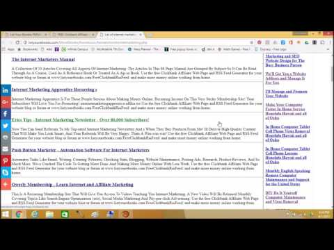 FREE Clickbank Affiliate Web Page and RSS Feed Generator by ListYourEbooks com