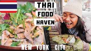 NYC's BEST THAI Food? Eating Thai Food in New York's Thai Town (Part 2)