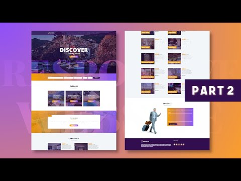 Build A Responsive Hotel Booking Website | HTML And CSS Tutorial
