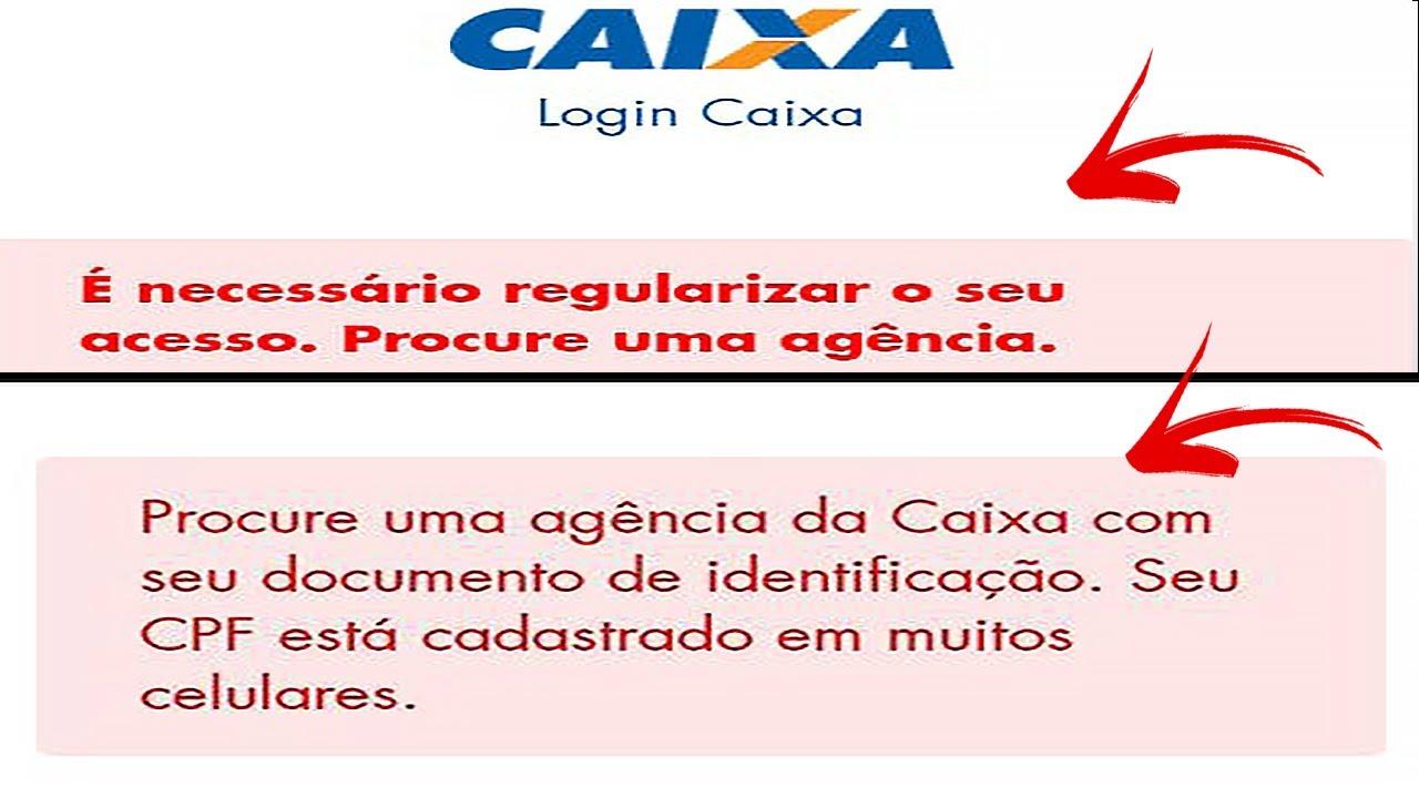 CAIXA TEM - CPF cadastrado em muitos celulares | É necessário regularizar o seu acesso (RESOLVIDO)