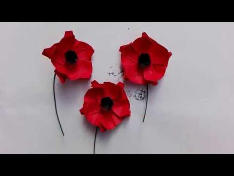 Origami Tutorial Poppy Flower Youtube