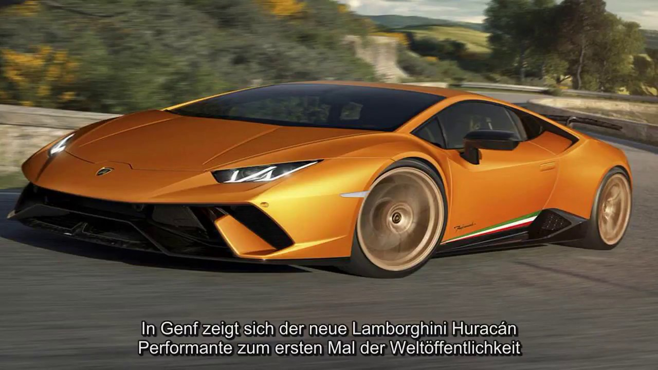 der neue lamborghini hurac n performante mit 640 ps youtube. Black Bedroom Furniture Sets. Home Design Ideas