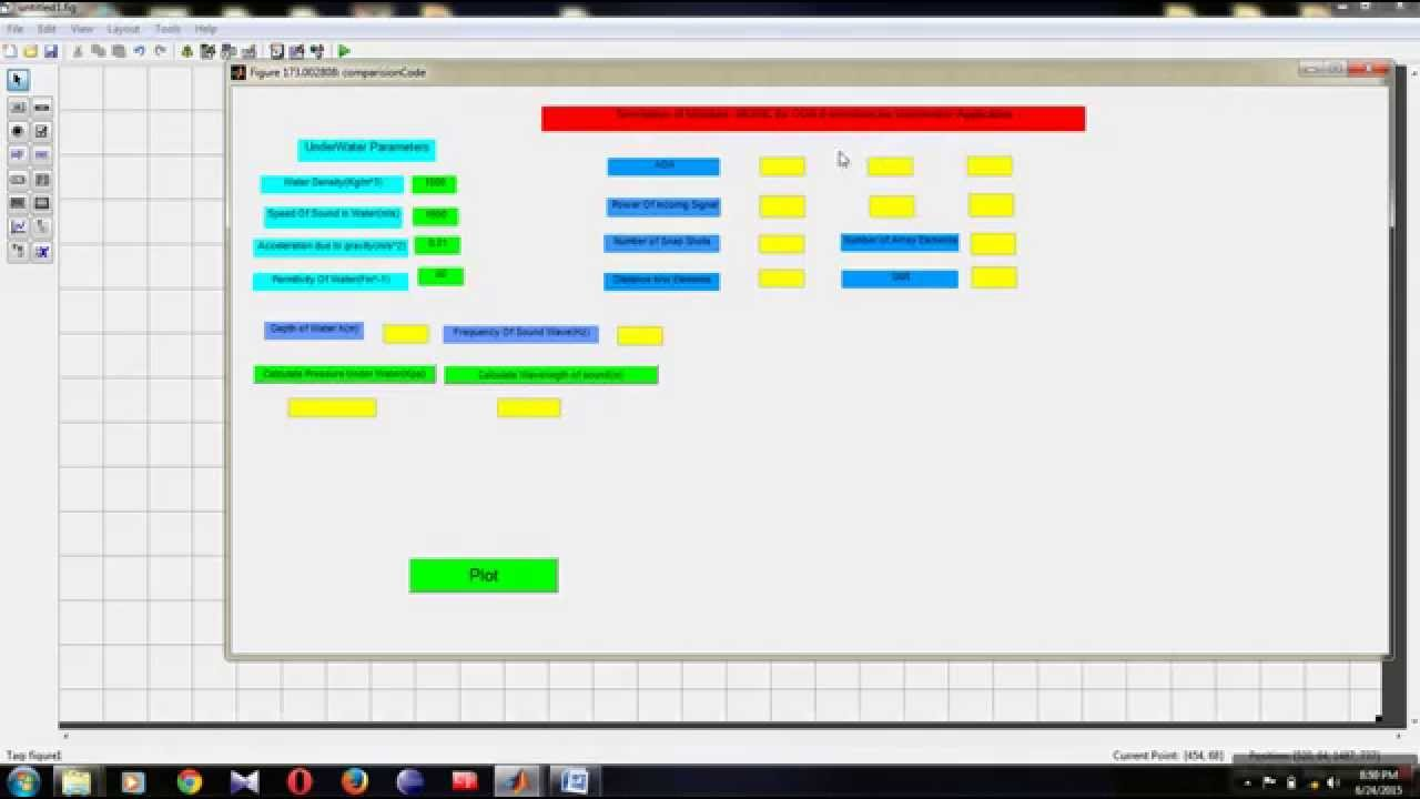 GUI USING MATLAB FOR DIRECTION OF ARRIVAL ESTIMATION PART-1