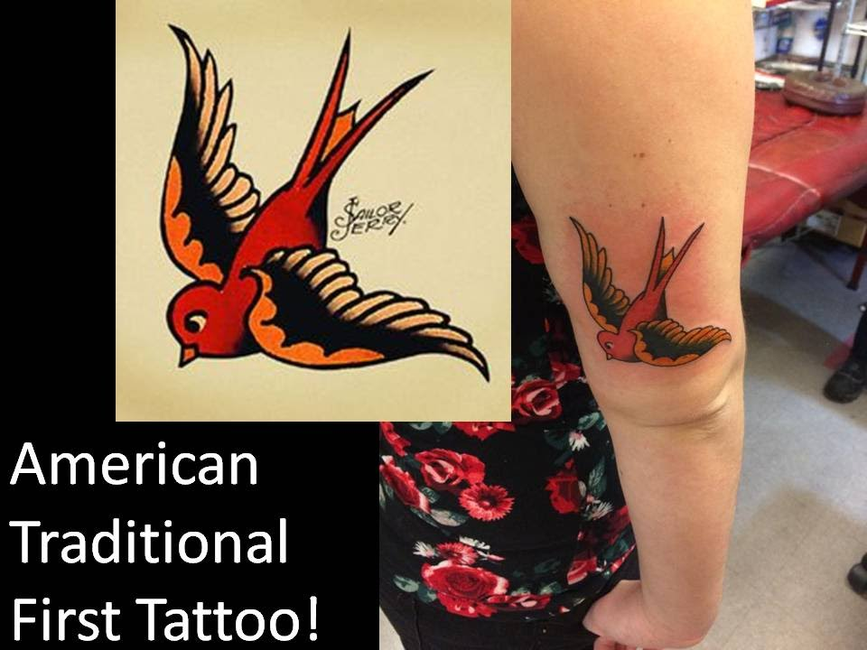 ad0c25417 MY FIRST TATTOO! American Traditional Sailor Jerry Tattoo - YouTube