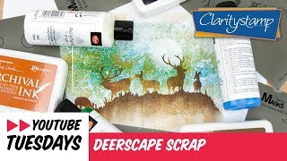 Stencilling How To - Deerscape Scrap