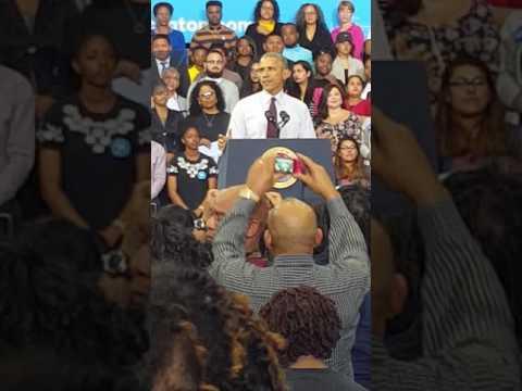 Obama at Fayetteville State University 2016