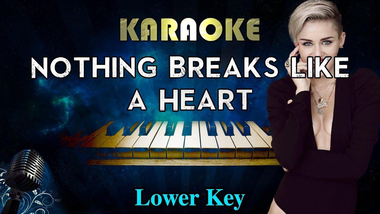 Mark Ronson - Nothing Breaks Like a Heart ft. Miley Cyrus (LOWER Key Piano Karaoke) image