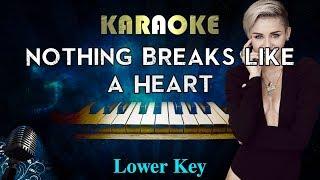 Mark Ronson - Nothing Breaks Like a Heart ft. Miley Cyrus (LOWER Key Piano Karaoke) Video