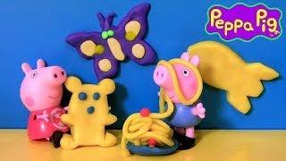 Play-Doh Schulbus Erstellen 'N Shop Rollen Mit Peppa Pig - Mold Zahlen 123 und Buchstaben ABC