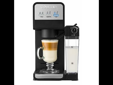 Gourmia Gcm4000 3 In 1 Single Serve Coffee Maker And Milk Frother