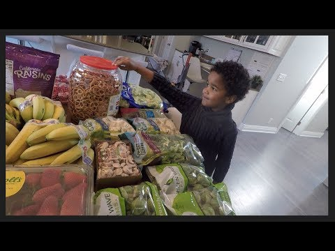 Once-a-Month Grocery Haul for March!  Large Family and THM eating