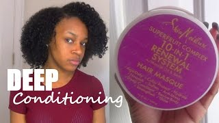 NATURAL HAIR | Deep Conditioning w/ Shea Moisture Superfruit Complex Hair Masque