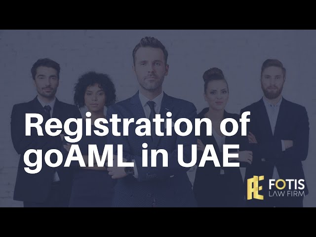 Registration of goAML in UAE