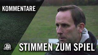 Die Stimmen zum Spiel (ETB SW Essen - SpVg Schonnebeck, Oberliga Niederrhein) | RUHRKICK.TV