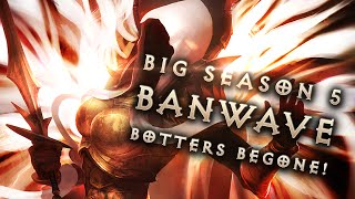 Diablo 3 Bot Ban wave: Botters Banned from Leaderboards! (Season 5) (Plus stream highlight)