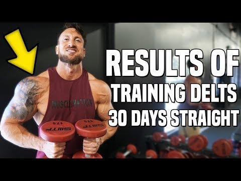 Results Of Training Shoulders Everyday For 30 Days (Why I Did It & What Happened!)