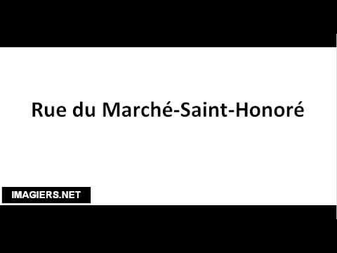 How to pronounce Rue du Marché Saint Honoré