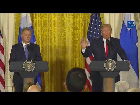 President Trump CONFRONTED on Hurricane Harvey, Joe arpaio, russia on his press conference 8/28/2017
