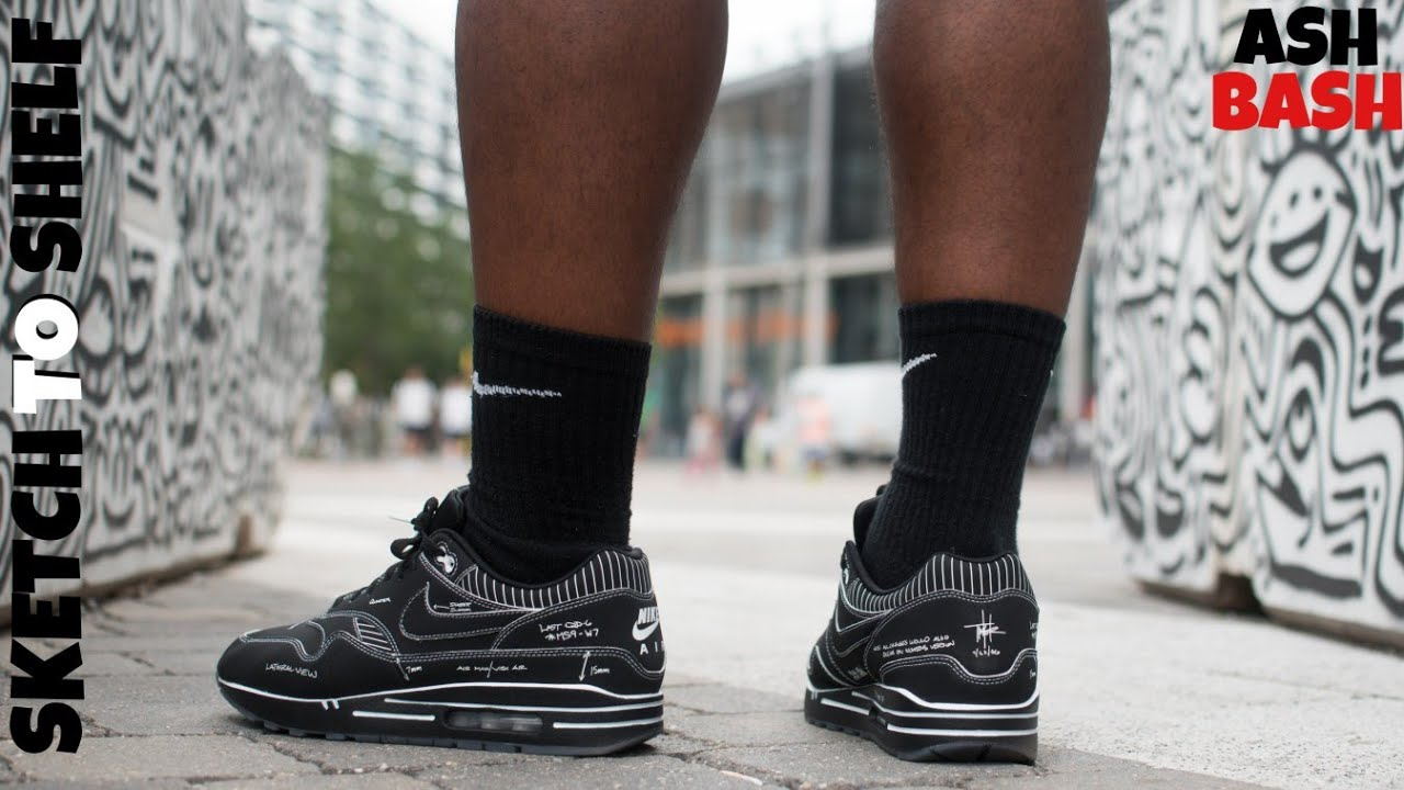 Review On Feet | Nike Air Max 1 'Black Schematic' | Ash Bash