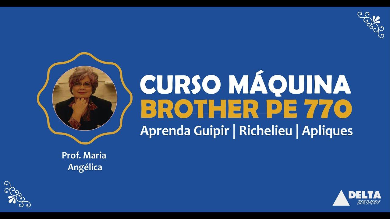 Curso de bordado m quina brother pe770 youtube for Curso de melamina gratis