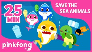 Save the Sea Animals and more | +Compilation | Shark Week | Pinkfong Songs for Children
