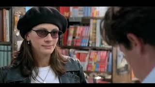Джулия Робертс покупает книгу в магазине Хью Гранта