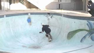 Pool skating in Southern California earlier this century.