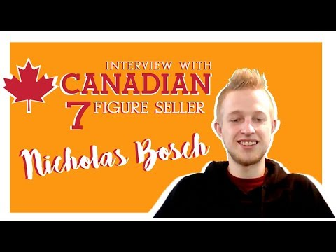 Interview with Nicholas Bosch - Canadian 7 Figure Amazon Seller (Private Label)