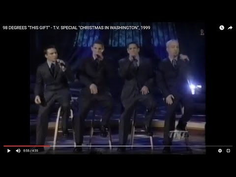 "98 DEGREES ""THIS GIFT"" - T.V. SPECIAL ""CHRISTMAS IN WASHINGTON"", 1999 [113]"