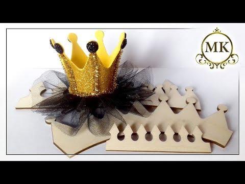 Зажим для волос. Корона по шаблону. Канзаши. МК. / DIY. Crown. Templates For Cutting Out. Kanzashi.