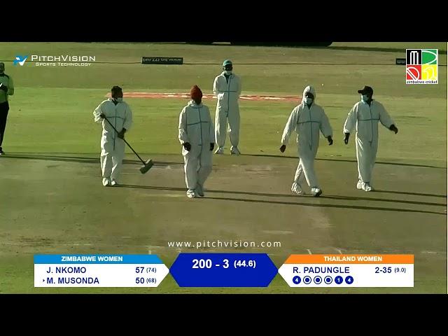 Zimbabwe Women vs Thailand Women | 1st One Day