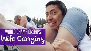 That time we entered the Wife Carrying World Championships in Finland!