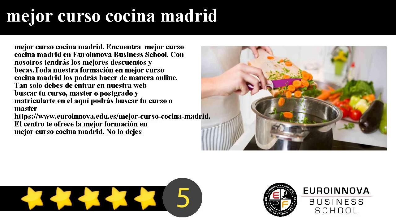 Curso De Cocina Madrid   Mejor Curso Cocina Madrid Youtube